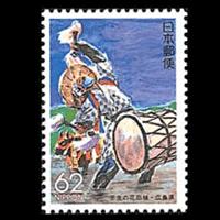 「壬生の花田植」切手