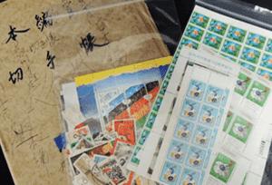 バラ切手(日本切手・中国切手)